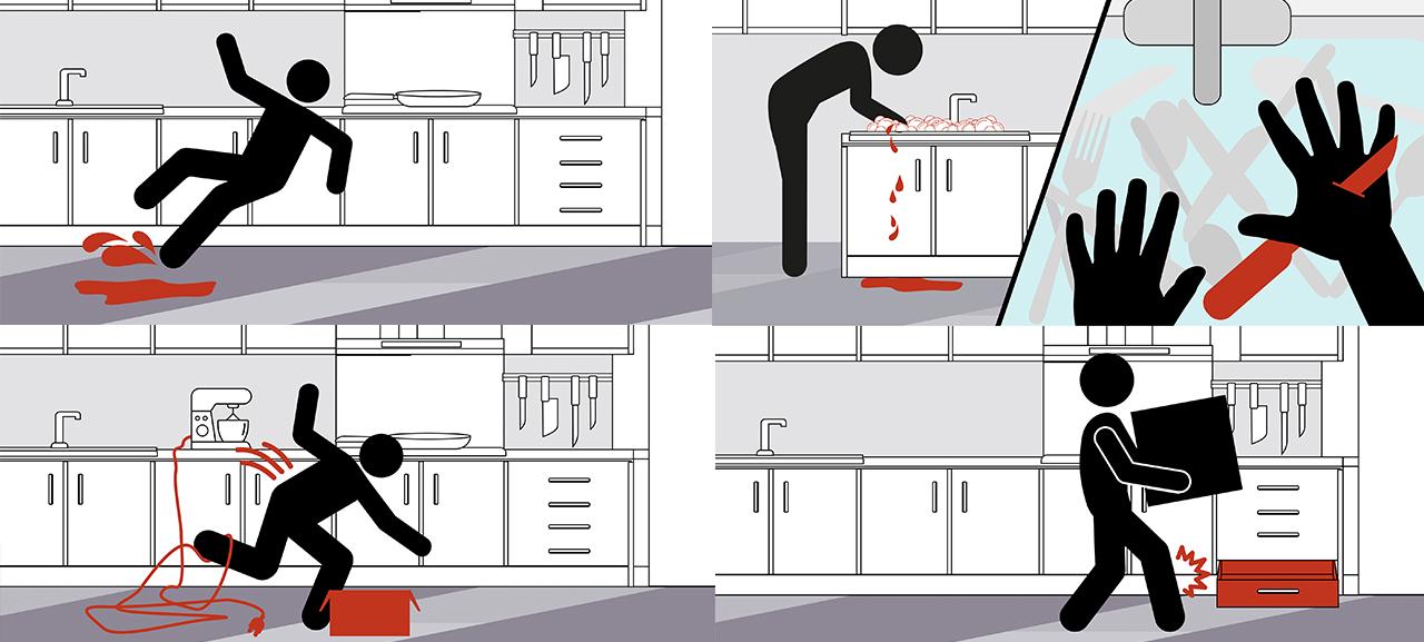 Gefahrensituationen in der Küche